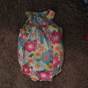 Other - Carters Floral Tank Bodysuit Baby Girl